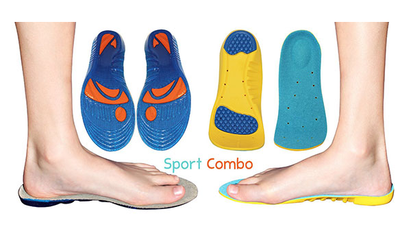 2 Pack – 1 Sport Memory Foam Comfort and 1 Gel Insole