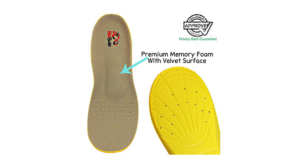 Premium Memory Foam Insoles with Velvet Surface