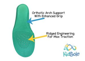 Orthotic Arch Supports with Enhanced Grip