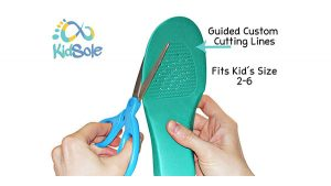 Insoles Fits Kids Sizes 2-6 with Guided Custom Cutting Lines