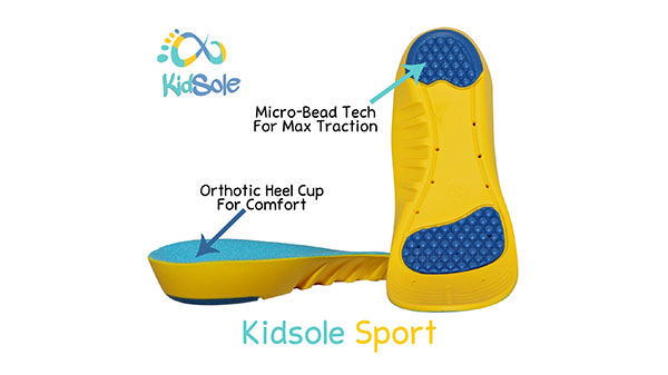 Orthotic Heel Cups for Comfort with Micro-bead Tech for Max Traction
