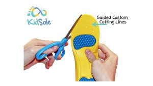 Kidsole Athletic Insoles with Guided Custom Cutting Lines