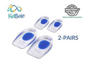 2 Pairs of Lightweight Gel Heel Cups