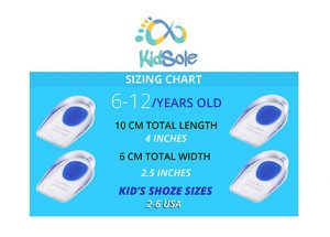 Kids Shoe Sizes Blue Heel Cups