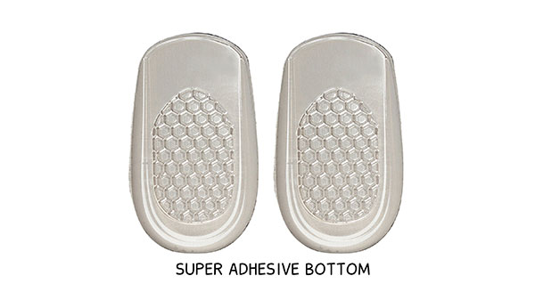 Black Insoles with Super Adhesive Bottom