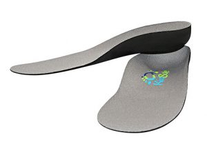 Grey Shoe Inserts with Arch Support