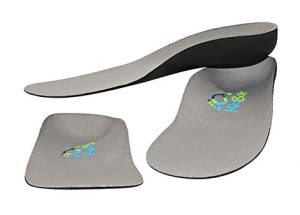 Grey Feather Light Orthotic with Deep Heel Cups
