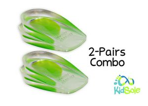 2 Pairs Children Combo Gel Heel Cups