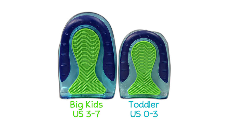 KidSole Sports Traction Shock Absorbing Gel Heel Cups