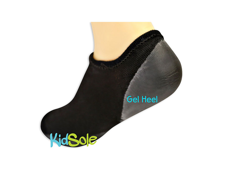 Black Severs Socks with Gel Heel