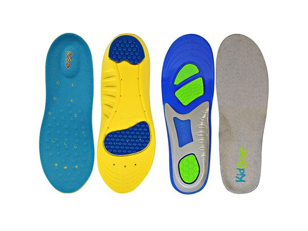 2 Pairs of 1 Sport Memory Foam Comfort and 1 KidSole Gel Insole