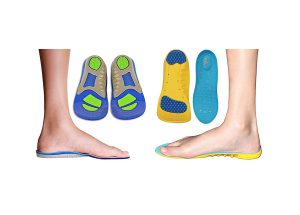 2 Pack of 1 Sport Memory Foam Comfort and 1 Gel Insole
