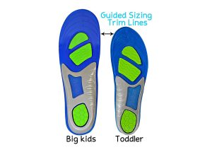 Guided Trim Lines Athletic Gel Insoles