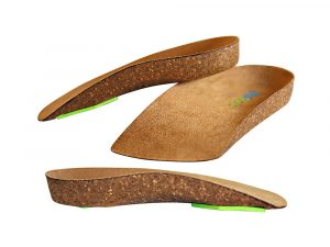 3/4 Length Cork Neon Shield Arch Support Insole